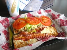 Mancino's Grinders! My favorite is the Club. Their fresh baked bread IS THE BEST! Yum!