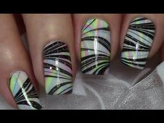 Doppel Water Marble Nageldesign / Nail Art Design Tutorial