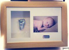 3D Baby Hand Cast Framed