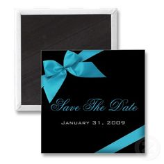 Black and Turquoise invitation