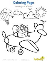 Airplane Ride Coloring Page