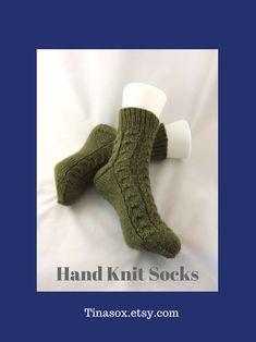 Comfy Socks, Bed Socks, Women's Socks, Wool Socks, Slipper Socks, Knitting Socks, Hand Knitting, Green Socks, Handmade Clothes