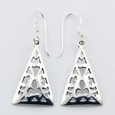 HOOK EARRINGS TRIANGLE DESIGN on 925 STERLING SILVER NOW $25.95aus .....................With FREE SHIPPING WORLD WIDE.. SAVE THIS PIN OR BUY NOW FROM LINK HERE  http://www.ebay.com.au/itm/-/182493624914?ssPageName=ADME:L:LCA:AU:1123