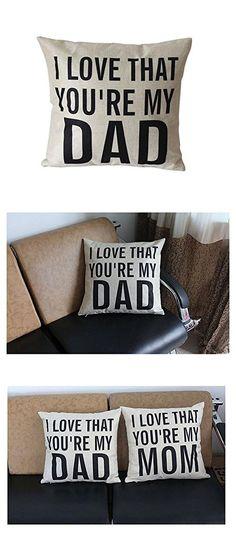 Leioh Decorative Cotton Linen Square Unique I Love That You Re My Dad Pattern Throw