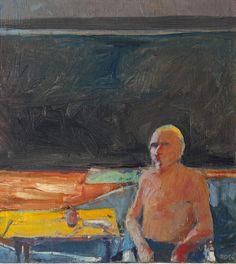 Richard Diebenkorn (1922-1993), Seated Man, 1956. oil on can
