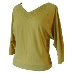 Pear yellow ban-lon 1950s soutache top at Candy Says Vintage Clothing www.candysays.co.uk