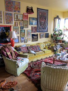 "Artist Rebekah Maysles lives in a wonderfully layered apartment in Harlem. ""Picture Grey Gardens, but Saner and with Fewer Cats"""