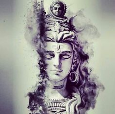 Charcoal Painting Lord Shiva Charcoal Paintings In 2019 Lord