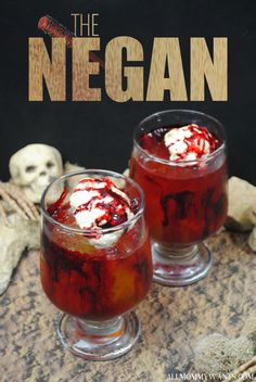 Cocktail: The Negan (The Walking Dead Inspired Drink) - Make this bloody concoction for your next viewing party or Halloween celebration! So disgusting but so delicious...
