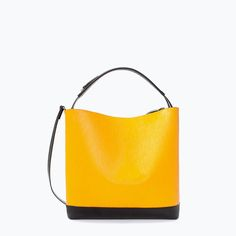 ZARA - SHOES & BAGS - TWO-TONE LEATHER SHOPPER