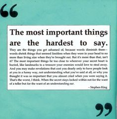 The most important things....