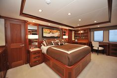 Nordhavn 120-Master Stateroom-Custom Yacht Interior Design-Destry Darr Design