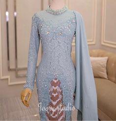 Dress Brokat Muslim, Dress Brokat Modern, Kebaya Modern Dress, Kebaya Wedding, Muslimah Wedding Dress, Wedding Dresses, Kebaya Hijab, Kebaya Dress, Hijab Evening Dress