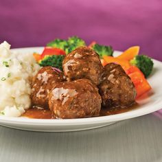 Meatballs with Mustard and Honey Beef – Weekend Meals – Recipe – Recipe - Home Page Beef Recipes, Cooking Recipes, Meatball Recipes, Confort Food, Tasty Meatballs, How To Cook Beef, Fish And Meat, Albondigas, Healthy Dessert Recipes