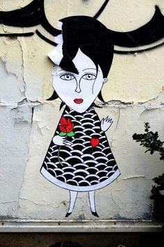 Paris 18 - rue saint vincent - street art - Fred le chevalier