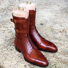 Gaziano Girling: High boots, bespoke in hatch grain, both boots and trees turned out an absolute master piece. We had a great time making these.