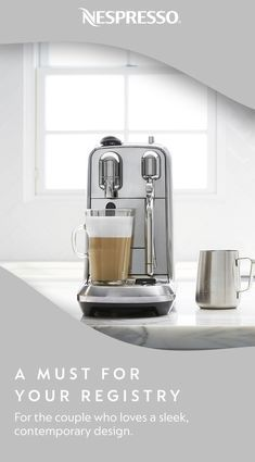 Discover coffee moments with the one you love. As you build your wedding registry, make sure the Nespresso Creatista Plus is first on your list. It's also a great gift for couples who enjoy creating professional latte art in the comfort of their home. Minimalist Kitchen, Minimalist Interior, Minimalist Decor, Minimalist Bedroom, Home Design, Küchen Design, Design Seeds, Cool Ideas, Feng Shui