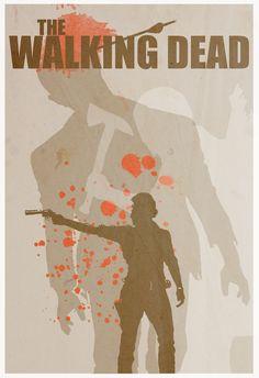 The Walking Dead Minimalist Poster www.redseafilms.net