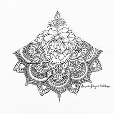 Trendy ideas tattoo mandala back neck henna Mandala Tattoo Design, Dotwork Tattoo Mandala, Tattoo Designs, Design Tattoo, Henna Designs, Tattoo Ideas, Trendy Tattoos, New Tattoos, Body Art Tattoos