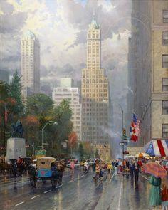 Central Park South, at Sixth Avenue by Thomas Kinkade
