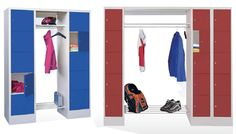 Offene Schließfach-Garderoben