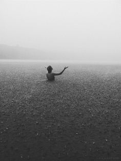 Swimming in the Rain - I would so do this... if there was no lightening.