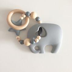 Rasseln & Greiflinge - Elefanten Greif und Beißring - ein Designerstück von Jennifereulelia bei DaWanda