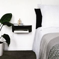Check out @mylittlehousenz latest blogpost about her guest room make over! Feat our Fold bedside table! 👌🏻〰 Floating Nightstand, Bedside, Guest Room, Check, Table, Furniture, Design, Home Decor, Floating Headboard