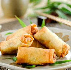 Chicken and Brie Spring Rolls