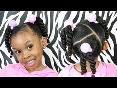 Trendy black hairstyles with weave Little Girls Natural Hairstyles, Black Baby Hairstyles, Mixed Kids Hairstyles, Kids Curly Hairstyles, Black Hairstyles With Weave, Simple Hairstyles, Hairstyle Ideas, Girl Hair Dos, Pelo Afro