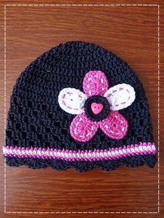 Kouzlo mého domova: Háčkovaná jednoduchá květina Chrochet, Baby Hats, Crochet Flowers, Hats For Women, Crochet Baby, Beanie, Bags, Heart, Fashion