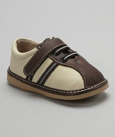 Take a look at this Coffee Stripe Leather Shoe by Modit on #zulily today!
