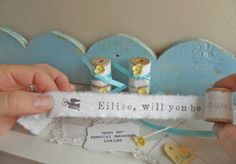 Will You Be My Bridesmaid Secret Message Gift  - Set of FIVE. $60.00, via Etsy.