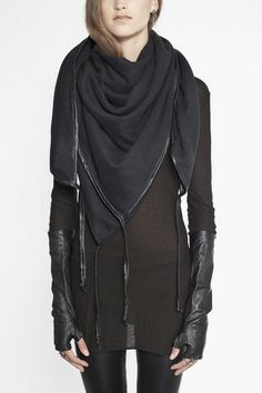 I think I found my new favorite clothing label <3 Scarf with Washed Leather Binding