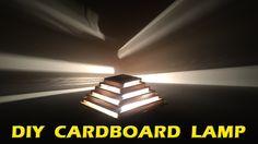 HOW TO MAKE A LAMP - DIY CARDBOARD LAMP   DIY HOME DECOR