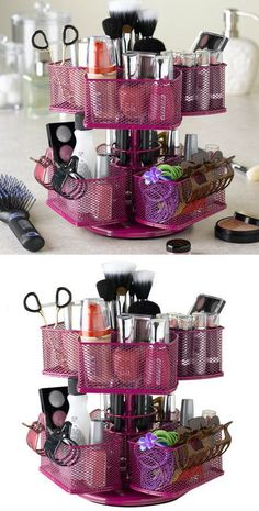 Cosmetic Organizer Carousel in Rose Pink <3 L.O.V.E.