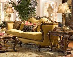 Aico Palais Royale Wood Trim Sofa