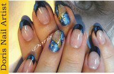 zipper gel nail art by Doris