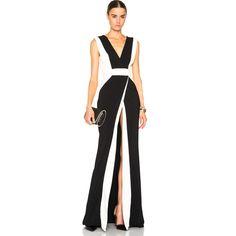 Zuhair Murad Sleeveless Stripe Gown (29.160 NOK) ❤ liked on Polyvore featuring dresses, gowns, zuhair murad gowns, silk gown, sleeveless striped dress, zuhair murad evening dresses and sleeveless gown
