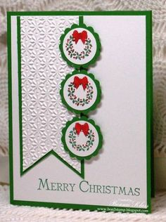 Jolly Little Wreathes by bon2stamp - Cards and Paper Crafts at Splitcoaststampers