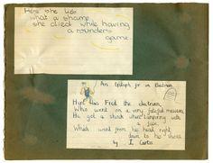 Ian Curtis 1960s Handwritten School Poem - Price Estimate: £1000 - $1200