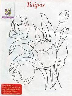 Pintei essas flores através de imagens coloridas e riscos encontrada na página do facebook da Arts'analia... ( uma página maravilhosa q...