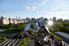 Tomás Saraceno's Cloud City on the Roof #architecture #art #NYC