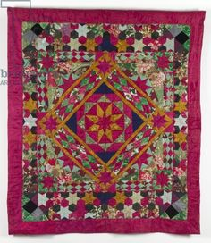 Farne Islands Quilt (textile), English School, (19th century) / Quilt Museum and Gallery, York / © The Quilters' Guild of the British Isles / The Bridgeman Art Library