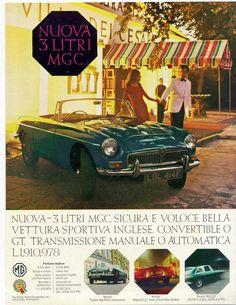 1960s MG car advertisement