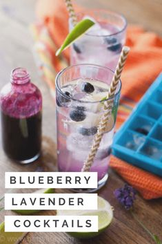 No summer celebration is complete without fresh blueberry lavender cocktails. These seasonal refreshers bring a bit of fizz and sweetness to all your warm weather parties. #summercocktailrecipe #blueberryrecipe #lavendercocktails #lavenderrecipe #bluberrycocktail
