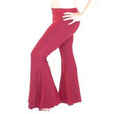 Dance Yoga flare pants, bell bottom, BIG FLARES - yoga, hippie, dance wear, tribal fusion, bellydance