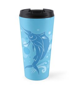 Sailfish Travel Mug #fish #fishing #blue #swimming #sailfish