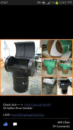 how to build a smoker out of 55 gallon drums
