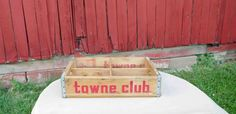 Vintage Towne Club Soda Wood Crate 1960's,  made by Miller MFG. Co. Richmond Virginia, Wood boxes Since 1898 by Incredibletreasures on Etsy